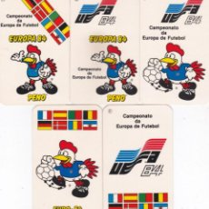 Coleccionismo Calendarios: 5 CALENDARIOS PORTUGAL 1984/1985 - EUROCOPA 84 - MASCOTA PENO - CAMPEONATO DE EUROPA DE FUTBOL. Lote 288578133