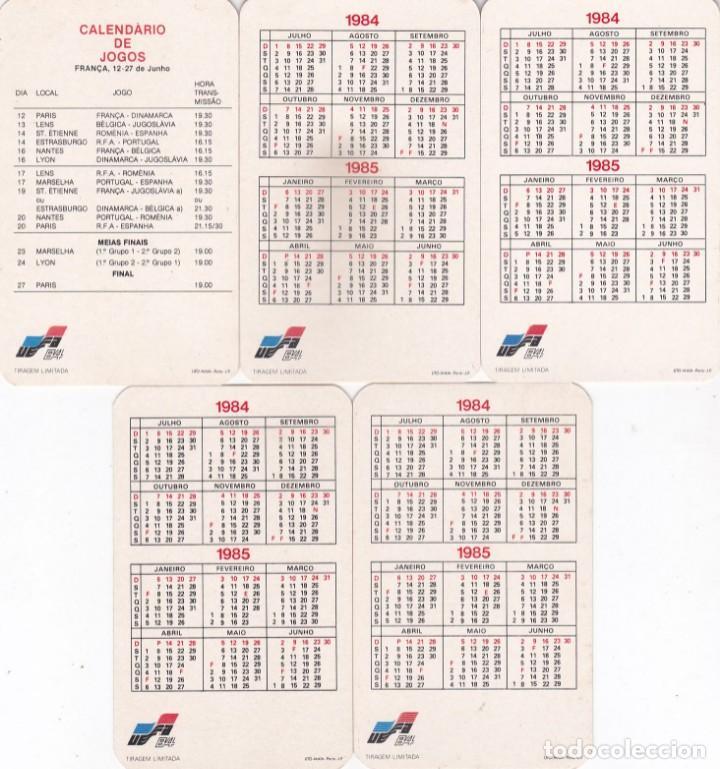 Coleccionismo Calendarios: 5 CALENDARIOS PORTUGAL 1984/1985 - EUROCOPA 84 - MASCOTA PENO - CAMPEONATO DE EUROPA DE FUTBOL - Foto 2 - 288578133