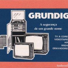 Coleccionismo Calendarios: CALENDARIO PORTUGAL 1984 - GRUNDIG. VIDEO - TV - HIFI - RADIO. Lote 288579538