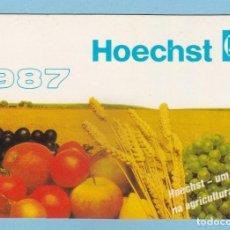 Coleccionismo Calendarios: CALENDARIO PORTUGAL 1987 - HOECHST PORTUGUESA, S.A. - LABORATORIOS. Lote 288579998