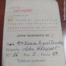 Coleccionismo Calendarios: ESTABLECIMIENTOS BARRACHINA VALENCIA , CALENDARIO AGENDA 1953.. Lote 289196768