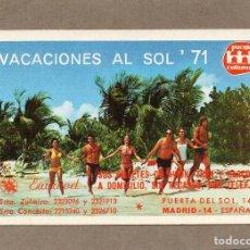 Coleccionismo Calendarios: CALENDARIO DE H. FOURNIER 1971 - VACACIONES AL SOL. Lote 289756363