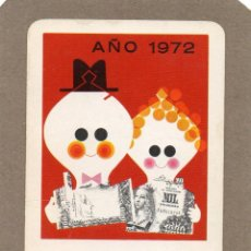 Coleccionismo Calendarios: CALENDARIO DE H. FOURNIER 1972 - CAJA DE AHORROS DE MADRID. Lote 289756548