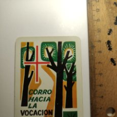 Coleccionismo Calendarios: 1964 CALENDARIO FOURNIER CORRO HACIA LA VOCACION DE DIOS RELIGIOSO. Lote 292297853