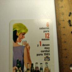 Coleccionismo Calendarios: 1965 CALENDARIO FOURNIER LA FAMILIA DE REFRESCOS DE CANADA DRY. Lote 292298878