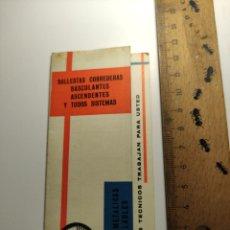 Coleccionismo Calendarios: 1968 CALENDARIO DESOLEGABLE NARTORRES BALLESTAS CORREDERAS TAMARIT BARCELONA. Lote 292308463