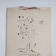 Coleccionismo Calendarios: ESPECTACULAR CALENDARIO SALVADOR DALÍ, HANS E BÄHR, 1956, IMPRESOR OLIVA DE VILANOVA. 35X25CM. Lote 294022148