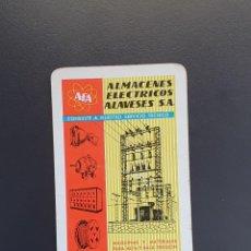 Coleccionismo Calendarios: CALENDARIO BOLSILLO - ALMACENES ELÉCTRICOS ALAVESES - FOURNIER - AÑO 1962. Lote 294992348