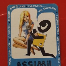 Coleccionismo Calendarios: 1973 CALENDARIO PUBLICIADA ASSIMIL IDIOMAS SELLO DORSO SAMBER. Lote 295283993