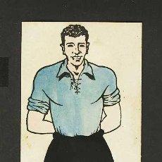 Coleccionismo deportivo: CARTON-PIZARRA-MARCADOR CON JUGADOR DE FUTBOL DEL FERROL (8 X 26 CMS). Lote 5361943