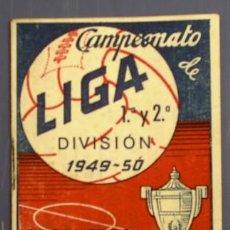 Coleccionismo deportivo: CAMPEONATO DE LIGA 1ª Y 2ª DIVISION 1949 - 50. REGALO DE CREMA DE AFEITAR LEA.. Lote 13946935