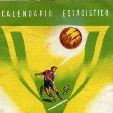 Coleccionismo deportivo: CALENDARIO ESTADISTICO CAMPEONATO LIGA 1952-1953, PRIMERA DIVISION. Lote 4624903