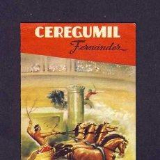 Coleccionismo deportivo: CALENDARIO DE FUTBOL DE 1960-61 CON PUBLICIDAD DE CEREGUMIL. Lote 5656639