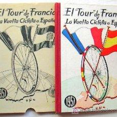 Coleccionismo deportivo: CICLISMO - EL TOUR DE FRANCIA Y LA VUELTA A ESPAÑA 1957 - CALENDARIO DINAMICO. Lote 15775651
