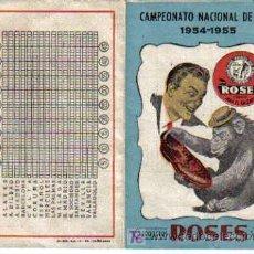 Coleccionismo deportivo: CALENDARIO DE LA LIGA 1954-1955. Lote 25237218