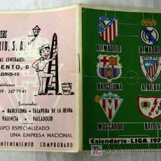 Coleccionismo deportivo: CALENDARIO DE FÚTBOL LIGA 1977-78 PUBLICIDAD LIMPIEZAS MADRID. Lote 7541863