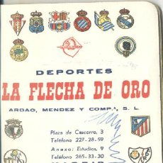 Coleccionismo deportivo: CALENDARIO FUTBOL 1979/80 LA FLECHA DE ORO. Lote 26569427