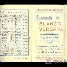 Coleccionismo deportivo: CALENDARIO. CAMPEONATO DE LIGA. 49 - 50 CON PUBLICIDAD DE MALAGA.. Lote 18214181
