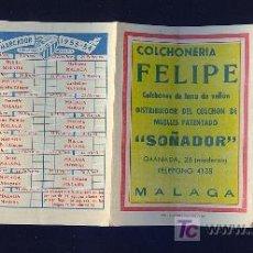 Coleccionismo deportivo: CALENDARIO. CAMPEONATO DE LIGA. 53 - 54 CON PUBLICIDAD DE MALAGA.. Lote 11692346