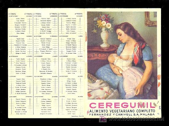 CALENDARIO. CAMPEONATO DE LIGA 52 - 53 CON PUBLICIDAD DE MALAGA. (Coleccionismo Deportivo - Documentos de Deportes - Calendarios)