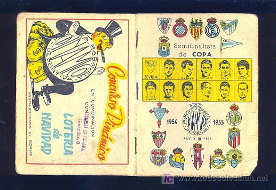 CALENDARIO. CAMPEONATO DE LIGA 54 - 55 CON PUBLICIDAD DE MALAGA. (Coleccionismo Deportivo - Documentos de Deportes - Calendarios)