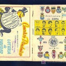 Coleccionismo deportivo: CALENDARIO. CAMPEONATO DE LIGA 54 - 55 CON PUBLICIDAD DE MALAGA.. Lote 11692350