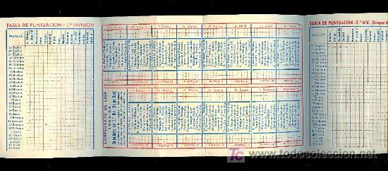 Coleccionismo deportivo: CALENDARIO. CAMPEONATO DE LIGA. 53 - 54 CON PUBLICIDAD DE MALAGA. - Foto 2 - 11692346