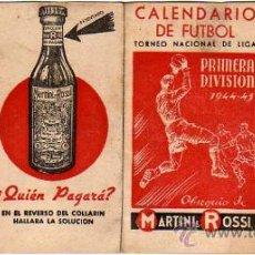 Coleccionismo deportivo: CALENDARIO DE FUTBOL-CUATRO HOJITAS- VERMUT MARTINI-ROSSI-1944-45. Lote 18304445