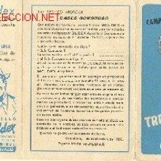 Calendario de Liga 1960-61 - Moldex