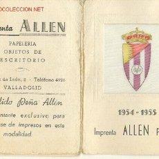 Calendario de Liga 1954-55 - Imprenta Papeleria Allen