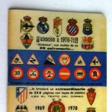 Coleccionismo deportivo: CALENDARIO DINÁMICO 1969-1970, 69-70. Lote 10425061