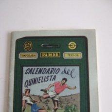 Coleccionismo deportivo: CALENDARIO DEL QUINIELISTA TEMPORADA 1955-56.47013. Lote 15411402