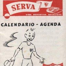 Coleccionismo deportivo: SERVA.CALENDARIO-AGENDA.CAMPEONATO.NACIONAL LIGA 1965.66.FOTOS DE JUGADORES EN INTERIOR. Lote 16954803