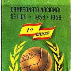 Coleccionismo deportivo: CALENDARIO CAMPEONATO NACIONAL DE LIGA 1958-59 1ª DIVISION CEREGUMIL. Lote 11056543