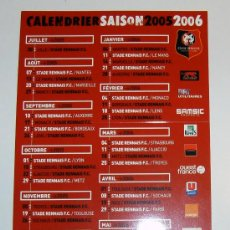 Coleccionismo deportivo: CALENDARIO LIGUE 1 2005/06 STADE RENNAIS. Lote 12145345