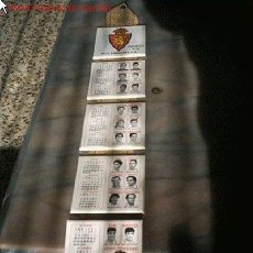 Coleccionismo deportivo: CALENDARIO DE CERAMICA DEL REAL ZARAGOZA 95/96. Lote 27383893