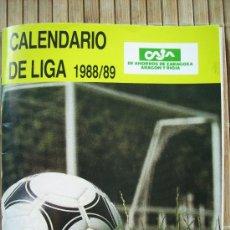 Coleccionismo deportivo: CALENDARIO DEL FUTBOL ESPAÑOL TEMPORADA 1989-90 ANUARIO REAL ZARAGOZA.VER FOTOS. Lote 26492671