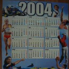 Coleccionismo deportivo: POSTER DE PARED CALENDARIO 2004 SPORT. Lote 24575781
