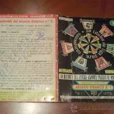 Coleccionismo deportivo: CALENDARIO DE FUTBOL ANUARIO DINAMICO Nº 1 TEMPORADA 71-72. Lote 27189964