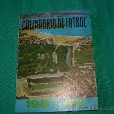 calendario de liga temporada 1981-82