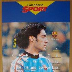 Coleccionismo deportivo: POSTER F.C. BARCELONA : VITOR BAIA CALENDARIO MARZO 1998. Lote 26114529