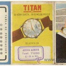 Coleccionismo deportivo: ANTIGUO CALENDARIO Y RESULTADOS DE PRIMERA DIVISION 1957-58. Lote 16788470