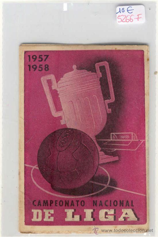 (5266-F)CALENDARIO CAMPEONATO NACIONAL DE LIGA 1957-1958 (Coleccionismo Deportivo - Documentos de Deportes - Calendarios)