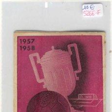 Coleccionismo deportivo: (5266-F)CALENDARIO CAMPEONATO NACIONAL DE LIGA 1957-1958. Lote 18608235