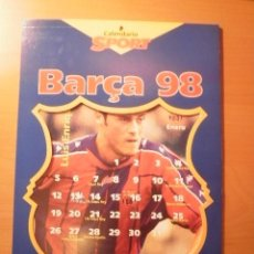 Coleccionismo deportivo: CALENDARIO DEL BARÇA AÑO 1998. Lote 19928877