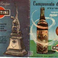 Coleccionismo deportivo: INTERESANTE CALENDARIO LIGA PRIMERA Y SEGUBNDA DIVISIÓN 1956-57 MARTINI. Lote 20564408
