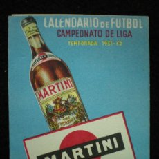 Coleccionismo deportivo - Calendario de Fútbol. Campeonato de Liga. 1ª División. Temporada 1951-1952. - 21170950