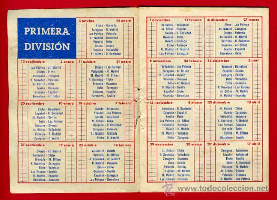 Calendario Futbol Primera Division.Calendario Futbol Publicidad Martini Liga 1959 60 Primera Division Cf128