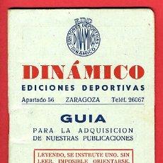 Coleccionismo deportivo: CALENDARIO GUIA DINAMICO VARIOS DEPORTES , 1956-57, CF134. Lote 21962164
