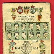 Coleccionismo deportivo: CALENDARIO FUTBOL ,DINAMICO , LIGA 1953-54 ,PRIMERA DIVISION , CF153. Lote 21962586